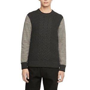 Rag & Bone Fisherman Wool Blend Cable Knit Sweater